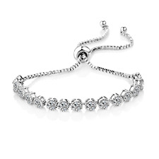Solitaire Crystal Friendship Bracelet in Gift Pouch
