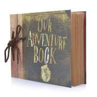 Retro Detachable Kraft Paper Album Notebook Photo Scrapbook Display Guest Book