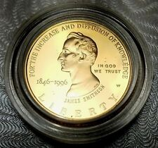 1996 W SMITHSONIAN INSTITUTION $5 GOLD PROOF-FREE USA Shipping