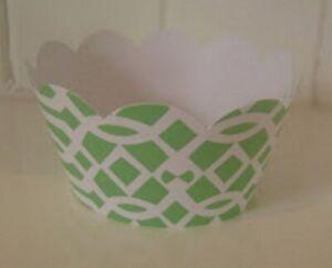Garden Tea Party Green Trellis Decorative CUPCAKE WRAPPERS (12) Minecraft