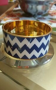 """KATE SPADE ♤ IDIOM BANGLE ZIG ZAG  """"BLUE AND WHITE PAPERS"""""""