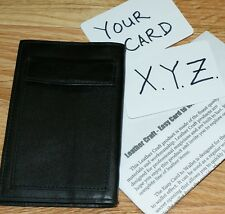 Card to Wallet with zipper -- similar to JOL EZ Load -- jacket style        TMGS