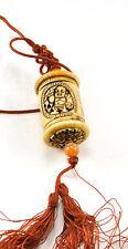 Vintage Buddha Bone Inro Netsuke Box Hanging Charm Case Storage Pouch Agate