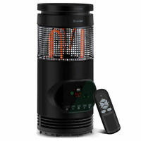 Portable Electric Space Heater 1500W Indoor Adjustable Thermostat Remote Control