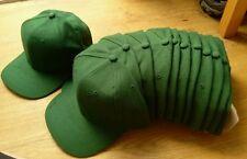 JOBLOT WHOLESALE 12 BOTTLE GREEN EXCELLENT QUALITY BASEBALL CAPS -55cm