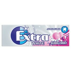 Wrigley's Extra White Bubblemint 10 Pieces 14g CASE OF 30