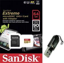 SanDisk 64GB microSD 90mb/s extreme 64G U3 4K microSDXC SD SDXC UHS-I +R13