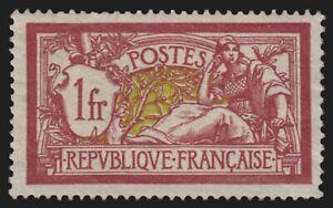 France n°121, Merson 1fr lie-de-vin, neuf ** sans charnière - TB - COTE 110 €