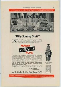 1919 A.R. Mosler & Co. Ad: Vesuvius Spark Plugs - Display Window, Toledo, OhiO