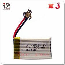 3x 7.4V 25C 650mAh Lipo Battery For JJRC H8C DFD F182 F183 Drone Quadcopter Part