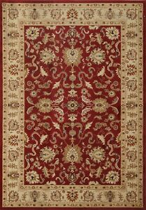 Floral Traditional Turkish Oriental Area Rug Classic Assorted RED Carpet 5x7 ft