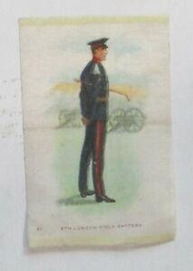 "Silk issued 1914 #21 Regimental Uniforms of Canada ""6th LONDON FIELD BATTERY"""