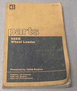 Caterpillar Cat 988B Wheel Loader Parts Manual 50W6041-UP SEBP1388 1984