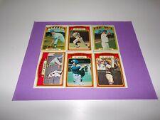 41-Card Lot of 1972 Topps Baseball(Milwaukee Brewers/B. Valentine/C Yastrzemski)