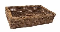 Padstow Wicker Willow Storage Tray Hamper Basket Bread Fruit Gift Rattan Display