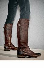 NEW Frye Phillip Riding Cognac Soft Vintage Leather Knee High Boot sz 8 $398