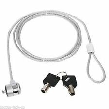 NEW UNIVERSAL 3M LONG SECURITY CABLE & KENSINGTON LOCK FOR LAPTOP, SCREEN, ETC