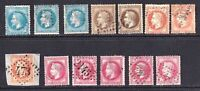FRANCE 33-36, 34a, 35a COLLECTION LOT #2 $213 SCV SPECIALIST CANCELS SHADES