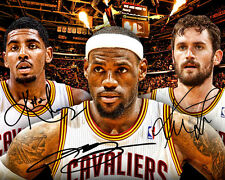 LeBron James Kyrie Irving Kevin Love Cavaliers Signed Photo Autograph Reprint
