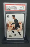 2004 SP Authentic Manchester United Cristiano Ronaldo #37 PSA 10 GEM MINT