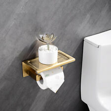 Bathroom In Wall Toliet Paper Holder Brushed Zirconium Gold SUS 304 Materials