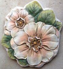Flower 2, plaque, stepping stone,  plastic mold, concrete mold, cement, plaster