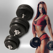 16KG Dumbbell Set Vinyl Gym Free Weights Biceps Fitness Home Exercise Dumbbells