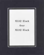 Pack of 10 16x20 Black/Black Picture Double Mat for 11x14 Photo + Backing + Bags