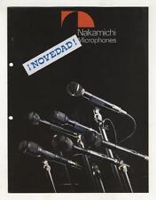 NAKAMICHI - CATALOGO DE MICROFONOS SIN DATOS DE FECHA  ( FINALES DE LOS 70 )