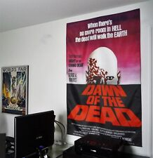 DAWN OF THE DEAD fabric poster classic vintage horror zombie movie romero