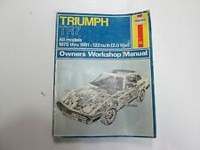 1975 thru 1981 Haynes Triumph TR7 All Models Owners Workshop Manual WATER WEAR