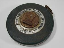 VINTAGE LUFKIN 50 FOOT TAPE MEASURE NI CLAD GOOD WORKING CONDITION