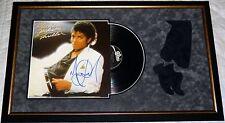 MICHAEL JACKSON HAND SIGNED AUTOGRAPHED CUSTOM FRAMED THRILLER ALBUM! PROOF+COA!