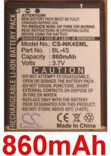 Batterie 860mAh type BL-4S Pour Nokia 7610 Supernova