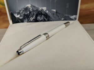 MONTBLANC Meisterstuck Tribute to the Montblanc White Lacquer 163 Rollerball Pen