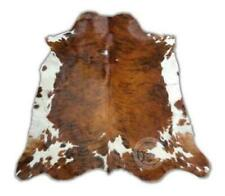 Cowhide Rug Skin Print Brown Faux Cow Hide Premium Quality