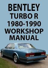 BENTLEY TURBO R WORKSHOP MANUAL 1980-1990