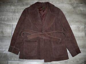 Vintage Brown Leather Men's Jacket Car Club Coat Jacket Starsky Fight Club Med