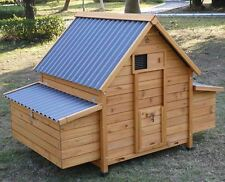 ECO1000-2N LARGE CHICKEN COOP HEN HOUSE POULTRY ARK RABBIT HUTCH RUN PLASTIC