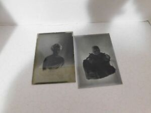 Antique Glass & Film Plate Negative Photographs From Early 1900's