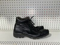 Bacco Bucci Mens Leather Lace Up Casual Ankle Chukka Boots Size 9.5 Black