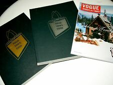 lotto riviste moda VOGUE / shopping guide + catwalk books + fabrics + look !!