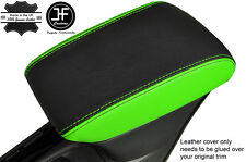 BLACK & GREEN LEATHER ARMREST COVER FITS VAUXHALL OPEL ASTRA K MK7 2016+
