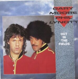 """GARY MOORE / PHIL LYNOTT - Out In The Fields ~ 12"""" Single PS"""