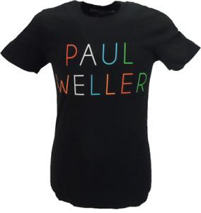 Mens Black Official Paul Weller Logo T Shirt