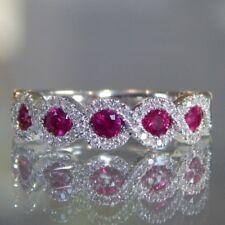 PHH2428  Handmade 100% Natural ruby 3.30ct Size US 7 14K White Gold ring