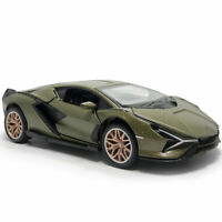 1:32 2019 Lamborghini Sian FKP 37 Model Car Diecast Toy Vehicle Green Sound Gift