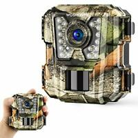 Wosports Mini Trail Camera 1080P HD Wildlife Scouting Hunting Camera with IR Nig