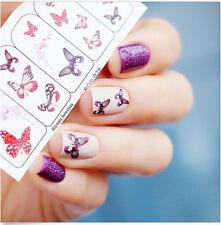 Nagel Sticker Nail Art Tattoo Aufkleber Fliegen Schmetterlings Blumen Dekoration