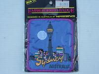 VINTAGE SYDNEY TOWER AUSTRALIA EMBROIDERED SOUVENIR PATCH WOVEN CLOTH BADGE